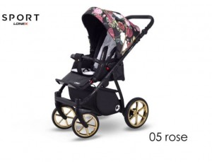 WÓZEK SPACEROWY LONEX SPORT ROSE
