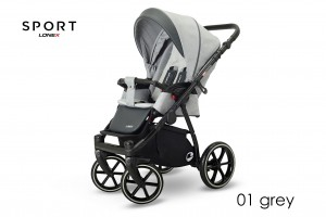 WÓZEK SPACEROWY LONEX SPORT 01 GREY